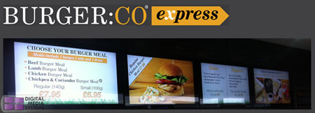 BURGER:CO Digital Menu Board