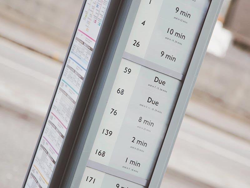 e-paper Digital Bus Stop