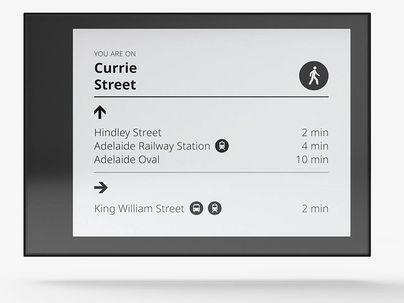 e-Ink Electronic Bus Stop