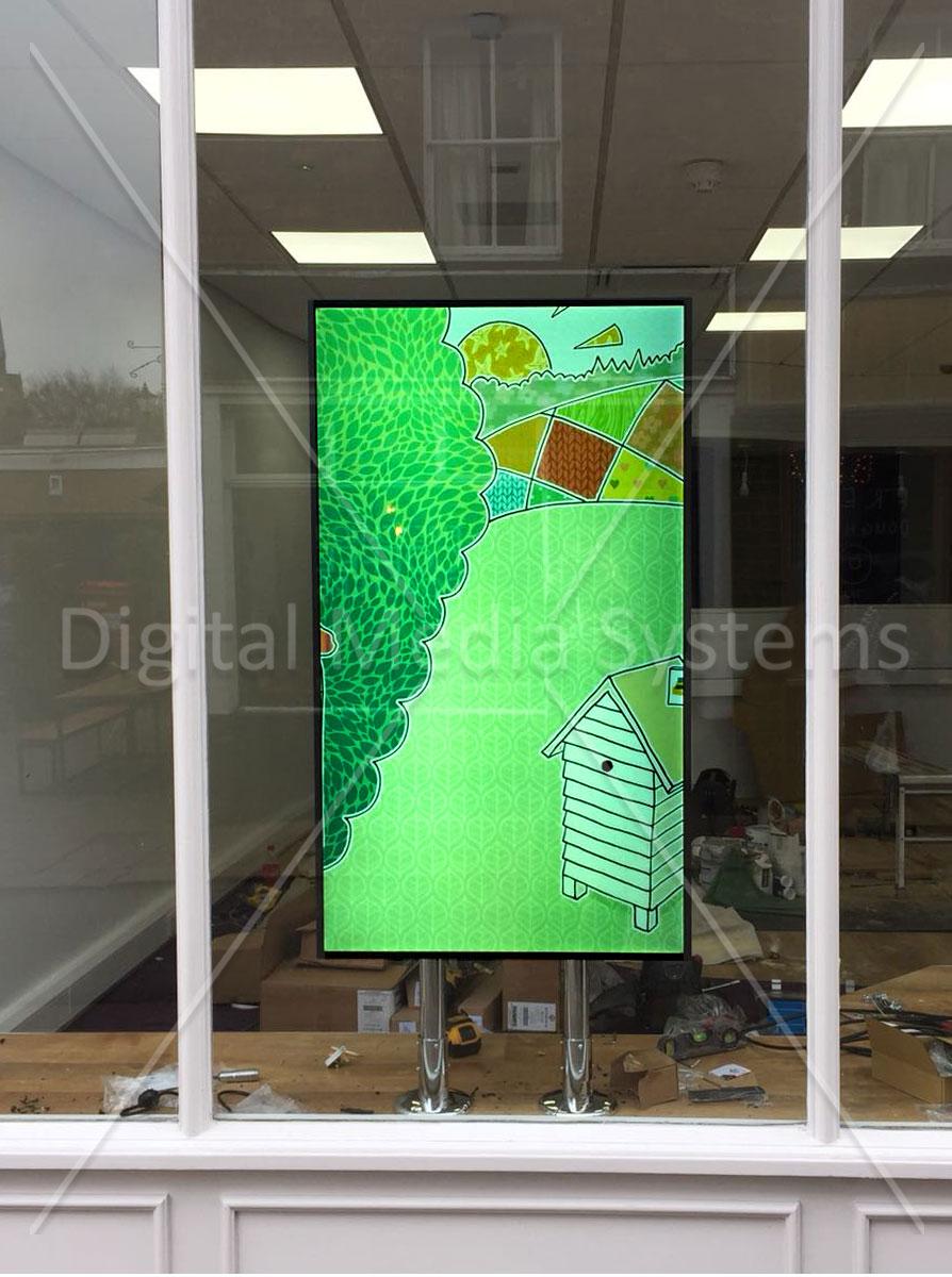 Woodbridge Digital Window Screen