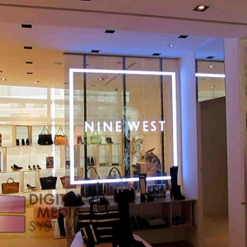 Nine West Transparent LED Glass Video Wall Screen